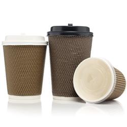 Papel de parede de ondulação descartáveis Cup