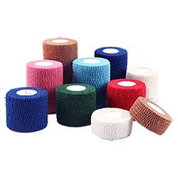 Lado à prova de rasgões bandagem coesa de algodão colorido