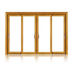 Feelingtop interior ou exterior da porta corrediça com vidro temperado de alumínio
