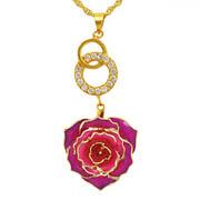 Precioso regalo para el día de la madre - 24k Gold Collar morado (XL035)