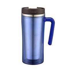 Estilo de bloqueio e bloqueio fora de plástico dentro de aço inoxidável Caneca de café