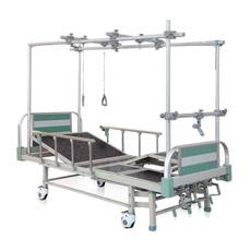 Bam402G Hôpital à bas prix 4 manivelles lit orthopédique médicale pour patients handicapés