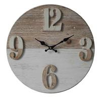 Antique (Vintage) Reloj de pared redonda de madera para la decoración del hogar