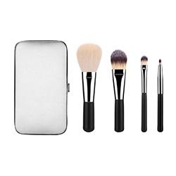 4pcs Voyage ensemble Brosse brosse de maquillage avec portefeuille Box
