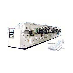 Automático de alta velocidad toalla sanitaria que hace la máquina