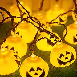5m 30 LED Halloween Decoración Calabaza Naranja Cadena Luz