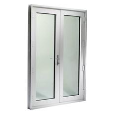 O dobro vitrificou a porta articulada alumínio, porta do Casement, porta de alumínio Pnoc0320