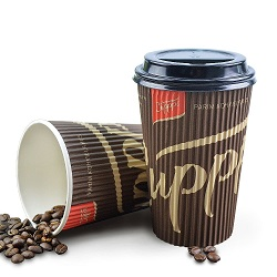 400ml tampa de silicone impresso Ecológico chávena de café
