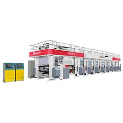 Máquina de impressão por rotogravura de alta velocidade para o filme plástico