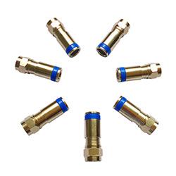 Conectores del RF de la Compresión RG6 para el Cable Coaxial