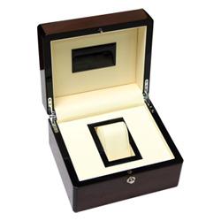 Verniz Brilhante Gigh Caixa de Relógio de Madeira
