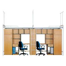 Lits superposés modernes en bois de supermarché avec armoires (ST-13)