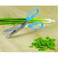 Acero inoxidable de color de alta calidad de la hoja 5 tijeras de cocina