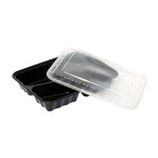 Одноразовый PP5 пластиковый контейнер для продуктов питания (PL)-598 для микроволновой печью и кафе