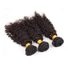 Kinky Encaracolado Tecelagem de fio de cabelo humano indiano Virgem Remy Cabelos Indiano