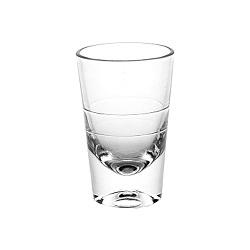 2oz cancelam o copo inferior grosso do vidro de tiro