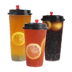 10oz Grau Alimentício copos de viagens de plástico de parede simples com boa qualidade (SH-PM12)