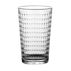Banheira de vender azul vidro sodo ondulada Cup (GB026808L)