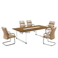 Tableau de salle de réunion de Tableau de conférence de table de réunion de patte en métal