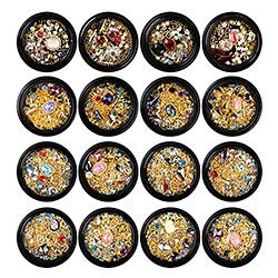 Nail Art 3D cristal brilla copos Camaleón adornos de lentejuelas brillan