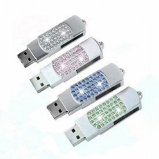 La moda unidad Flash USB de cristal brillante lápiz USB Driver (ES033)