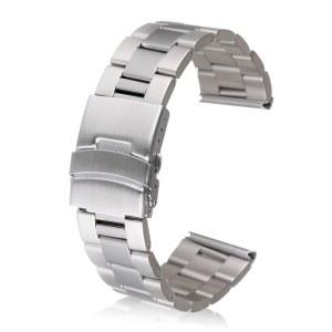Pulido de alta 316 Correa de acero inoxidable hebilla de la banda de reloj clásico