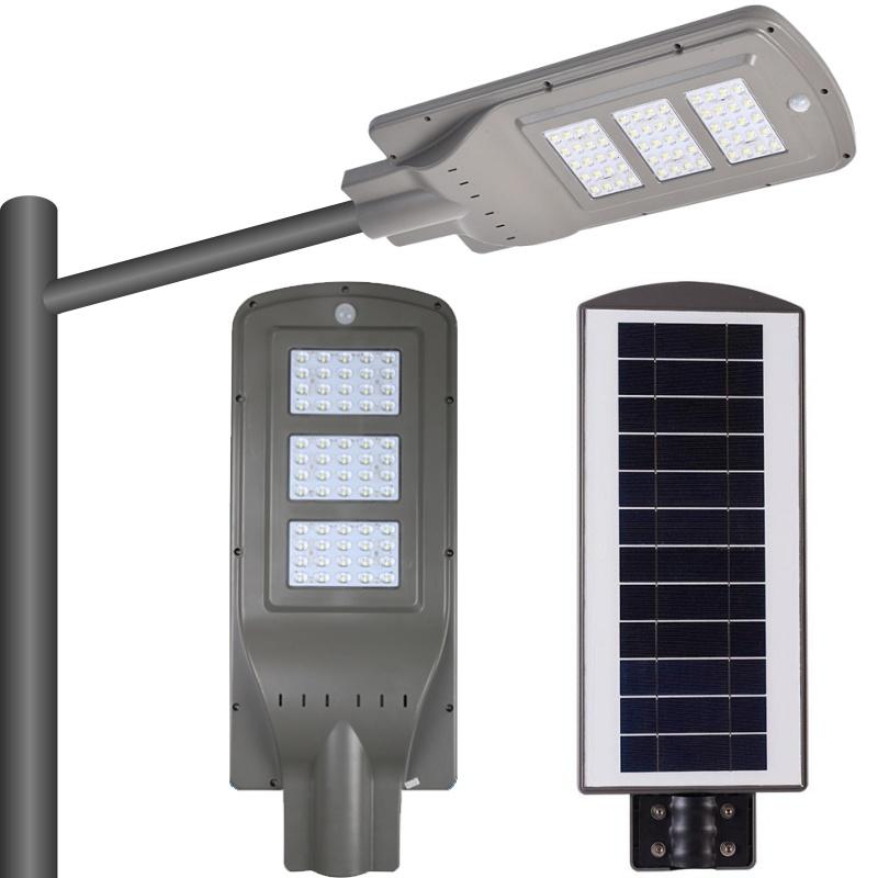 Les lampes à LED de la rue Solar-Powered outdoor lighting fixture APP Téléphone capteur PIR
