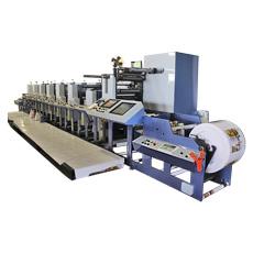 Machine d'impression flexographique en ligne pour le plastique et le papier