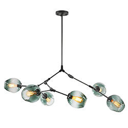 Lustre de Esferas de Vidro Simples Criativa para a Sala de Jantar a Luz Pendente