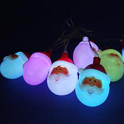 Luz Solar para Exteriores con LED de Santa