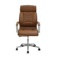 Chaise de bureau pivotante en cuir classique à cinq étoiles avec prix d'usine