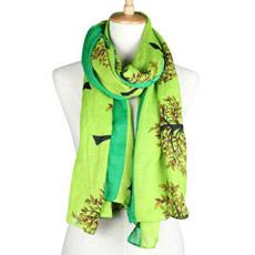 Леди мода хлопок вискоза полиэстер напечатано шелковые шарфы (YKY1022)