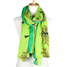 Ladies Spring Fashion Rayon Printed Voile Silk Scarf