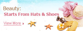 Beauty: Starts from Hats & Shoes