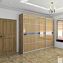 UV Wood Grain Sliding Door