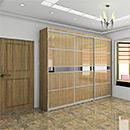 UV Wood Grain Sliding Door