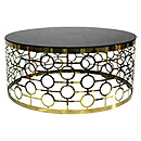 Stainless Steel Leg Round Coffee Table