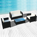 Wicker Sofa for Outdoor with Steel Frame SGS