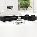 Modern Design Black Leather Office Sofa
