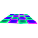 Tempering Glass Rainbow Effect LED Dance Floor