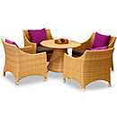 Rattan Garden Dining Table and Chair