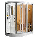 Dry Sauna Shower Combination Cabin