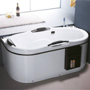 Acrylic Classical Square Hot SPA Bathtub