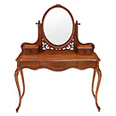 Antique Home Furniture Wooden Dresser with Mirror