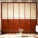 Modern UV High Glossy Wooden Open Door Wardrobe
