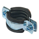 Pipe Clamps with Rubber (3/4