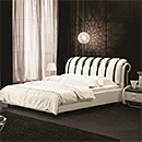 Wooden Leather Bed