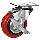 4 Inch Rubber Swivel Brake Caster Wheel