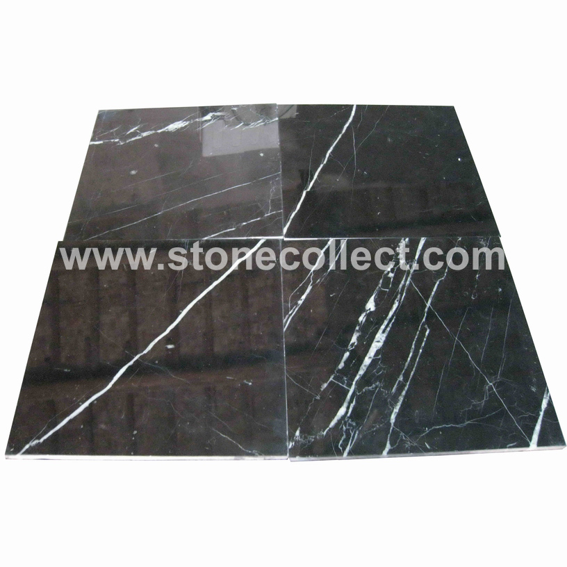 Nero Marquina Marble Tiles and Slabs