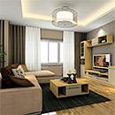 Made of Melamine Panel for Luxury TV Unit